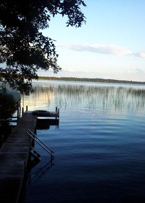 Lake Hubert dock 2013